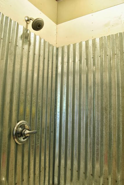 Cottage Dreamers: Galvanized corrugated metal shower surround Q & A