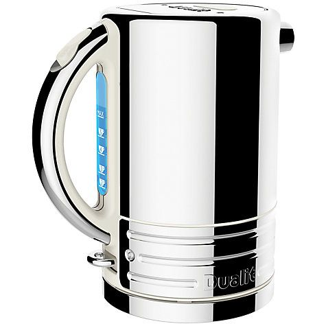 Buy Dualit 72923 Architect Kettle, Polished Steel with Canvas Trim online at John Lewis