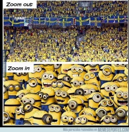 879132 - Mientras tanto, en la grada de los fans Suecia