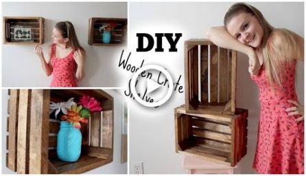 DIY Holzkiste Regale: Wohnung Dekor    – DIY Babies-Todds Dress-Winter