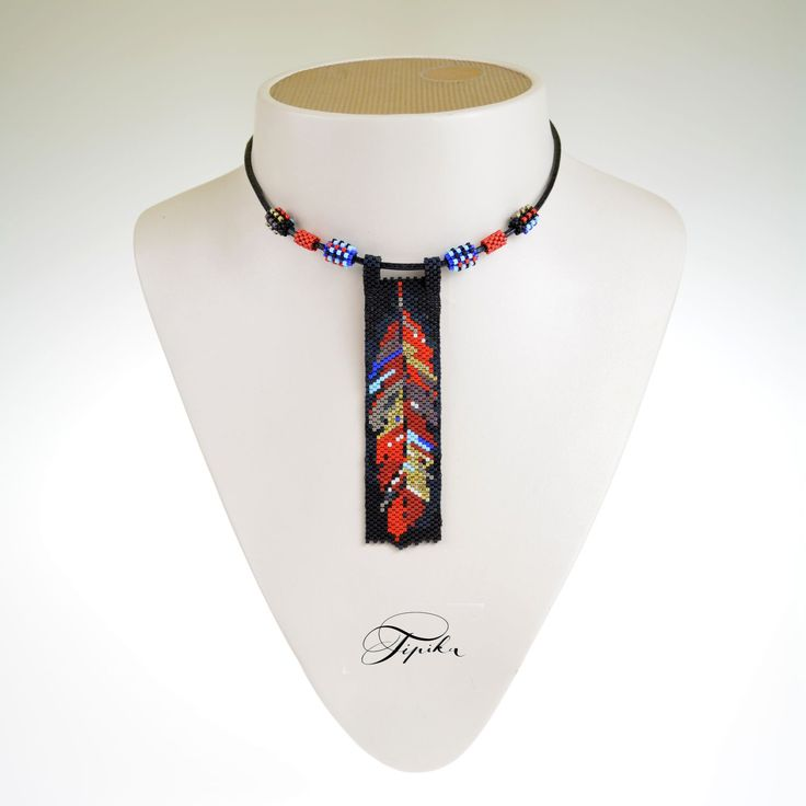 #tipika, #beadwork, #feather
