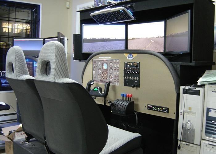Simulateur de bimoteur Allo Informatique (Vic Noel)