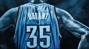 No matter what team he plays for he loves the #35 because when he played basketball, his coach who coached and taught him everything he knows, sadly died at the age of 35. So now Kevin Durant always wears the number 35