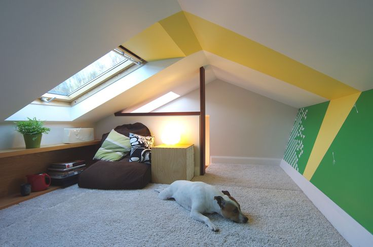 Loft of Suburbia - a conversion of an unused roof space into a vibrant and playful space