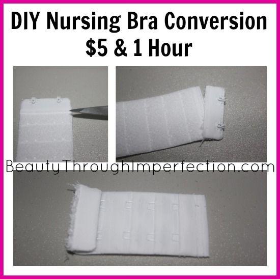 DIY Nursing bra conversion