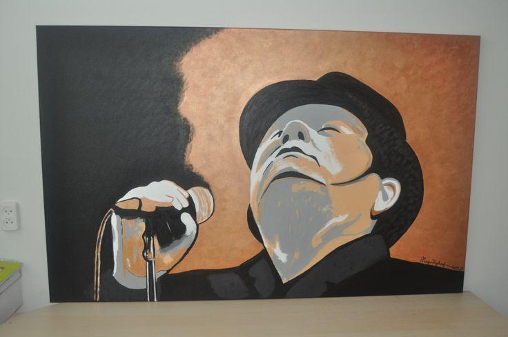 André Hazes 160 x 100 cm , acrylverf