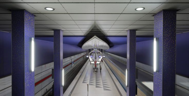 Wikipedia picture of the day on September 1 2016: Long exposure of the subway station Hasenbergl opened in 1996 and serving line 2 of Munichs U-Bahn. http://ift.tt/2cdkZuO