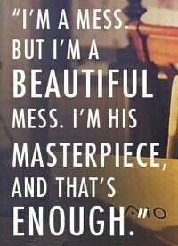 Mom's Night Out quote - Beautiful mess