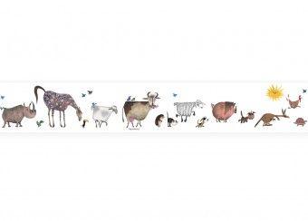 behangrand Fiep Westendorp 'Dieren optocht' KEK Amsterdam | kinderen-shop Kleine Zebra