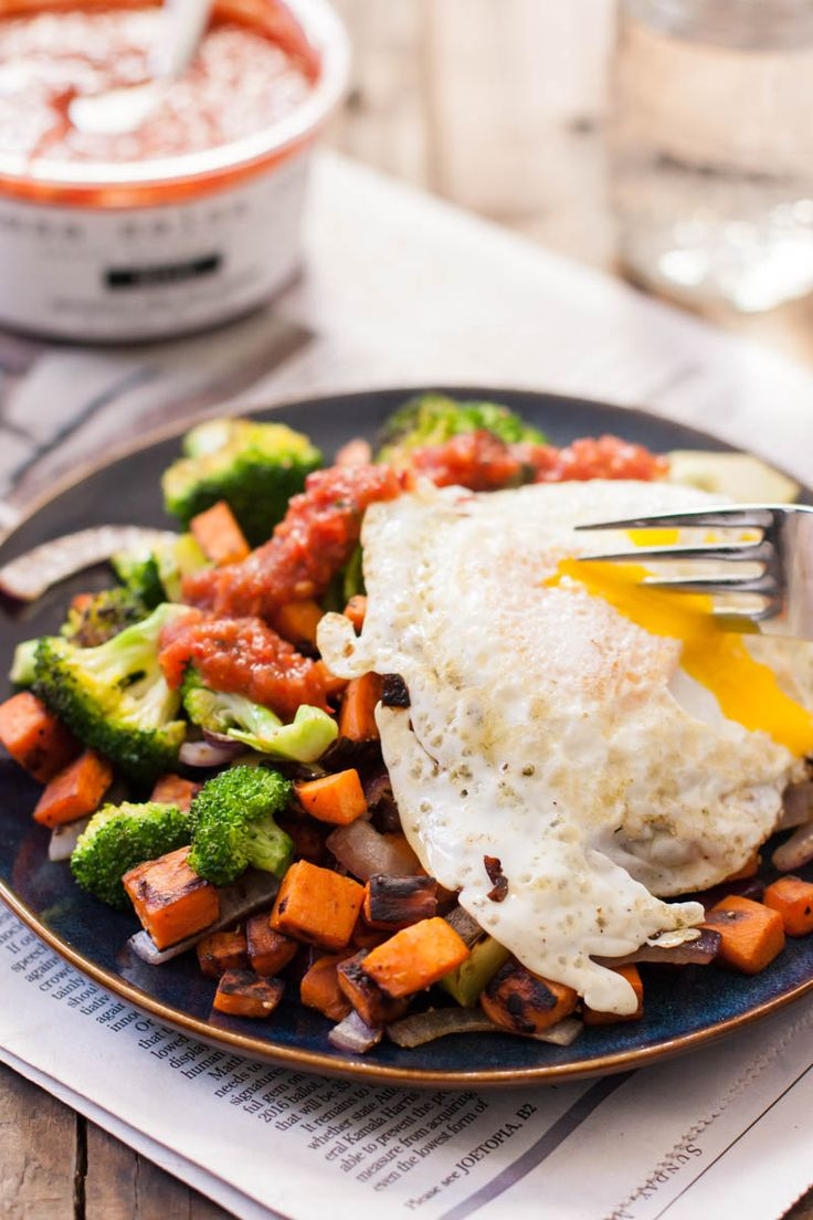 Breakfast Hash Recipe - Sweet Potatoes and Broccoli with Olive Oil ...