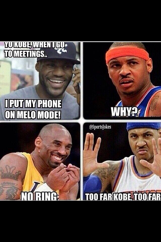 Lebron James|Kobe Bryant|Carmelo Anthony|no ring meme|