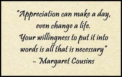 20 Quotes About Appreciation