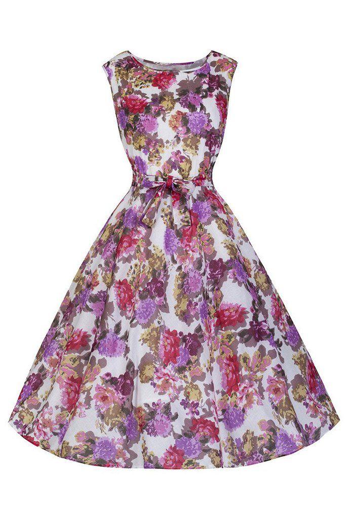 Pretty Kitty Pink Floral Swing Dress