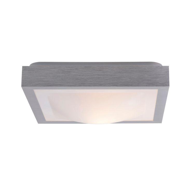 Plafonnier carr pour salle de bain en aluminium et for Plafonnier salle de bain ikea