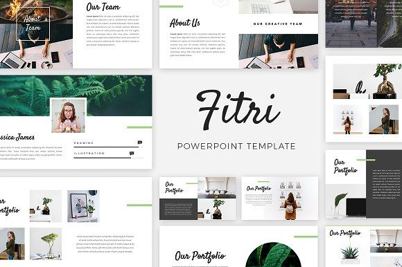 Fitri - Creative PowerPoint Template by desvibes on @creativemarket