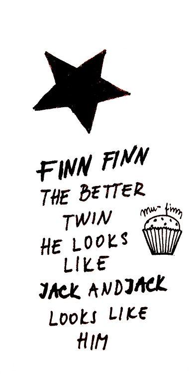Finn Finn the better twin, he looks like jack and jack looks like him <3finnfinnthebettertwin #jacksgap