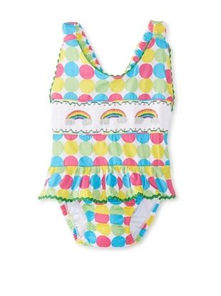 58% OFF Viva La Fete Kid's Rainbow Sunsuit (White Multi)