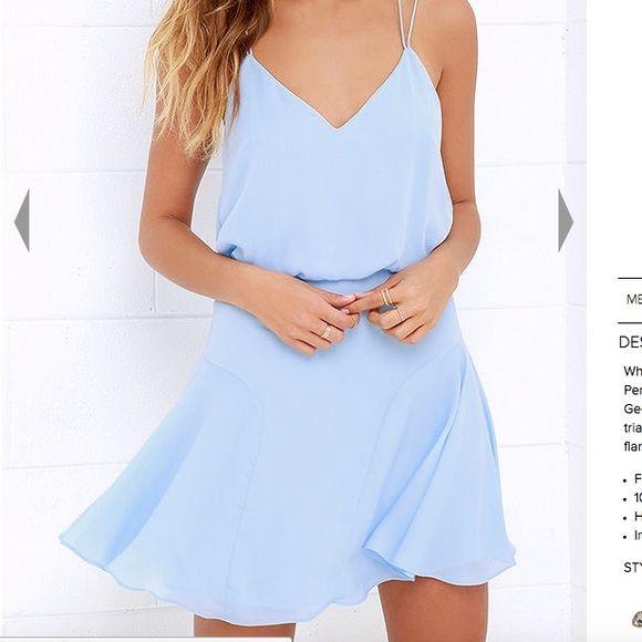 NWOT Light Blue Lulu's Dress I'll add an actual photo when I get home! Never worn, no flaws! ORIGINALLY $65 Lulu's Dresses Mini