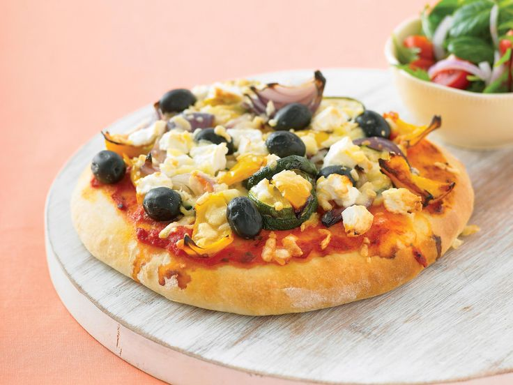 When you're after a tasty snack in a hurry, look no further than this scone pizza by recipes . Topped with grilled vegetables, it fills tummies and contributes to the 5-a-day quota.