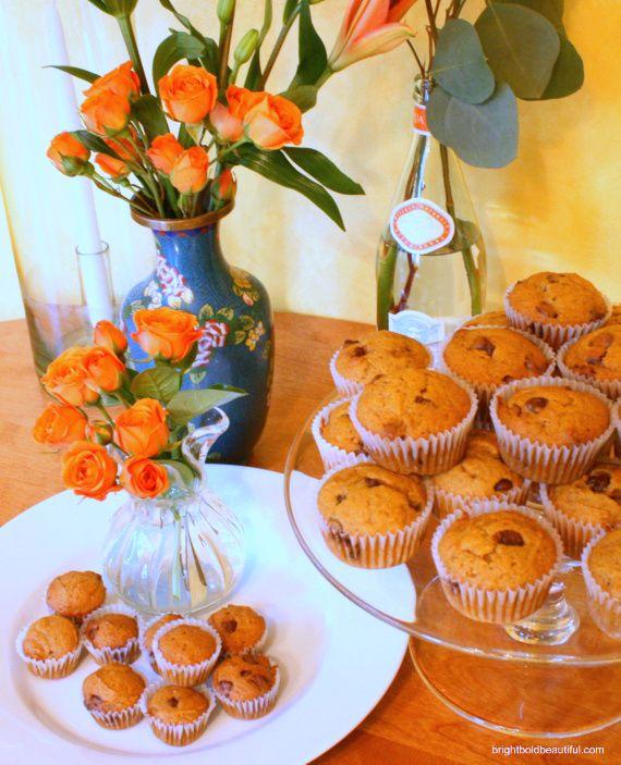 Pumpkin Chocolate Chip Muffins on http://www.brightboldbeautiful.com: Choc Chip Muffins, Chocolates, Chocolate Chip Cupcakes, Pumpkin Chocolate Chips, Chocolate Pumpkin Muffins, Chocolate Chip Muffins, Pumpkin Pie Spice, Baking Soda