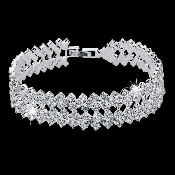 Luxury Silver Plated Bracelet.  Up To 75% OFF + FREE SHIPPING!  #Bracelet #FreeShipping #DazzlingSeaJewelry