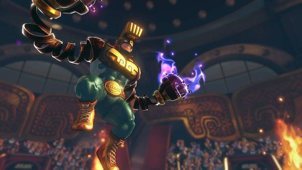 ARMS - Version 2.0 update available (Max Brass and more)   ARMS League Commissioner Max Brass added as a playable character. New ARM Nade added. New ARM Roaster added. New ARM Kablammer added. New stage Sky Arena added. New versus mode Hedlok Scramble added. Punch or touch the capsule containing the Hedlok mask to become Hedlok for a period of time. This can be selected in Versus Friend or Local and it will also appear in Party Match. Stats added to the Top Menu. Check stats such as your…