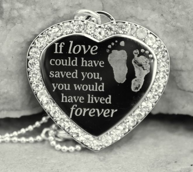 If Love Could Have Saved You Pendant - For my little Apple Jack (that's what my 2 year old named our angel baby)