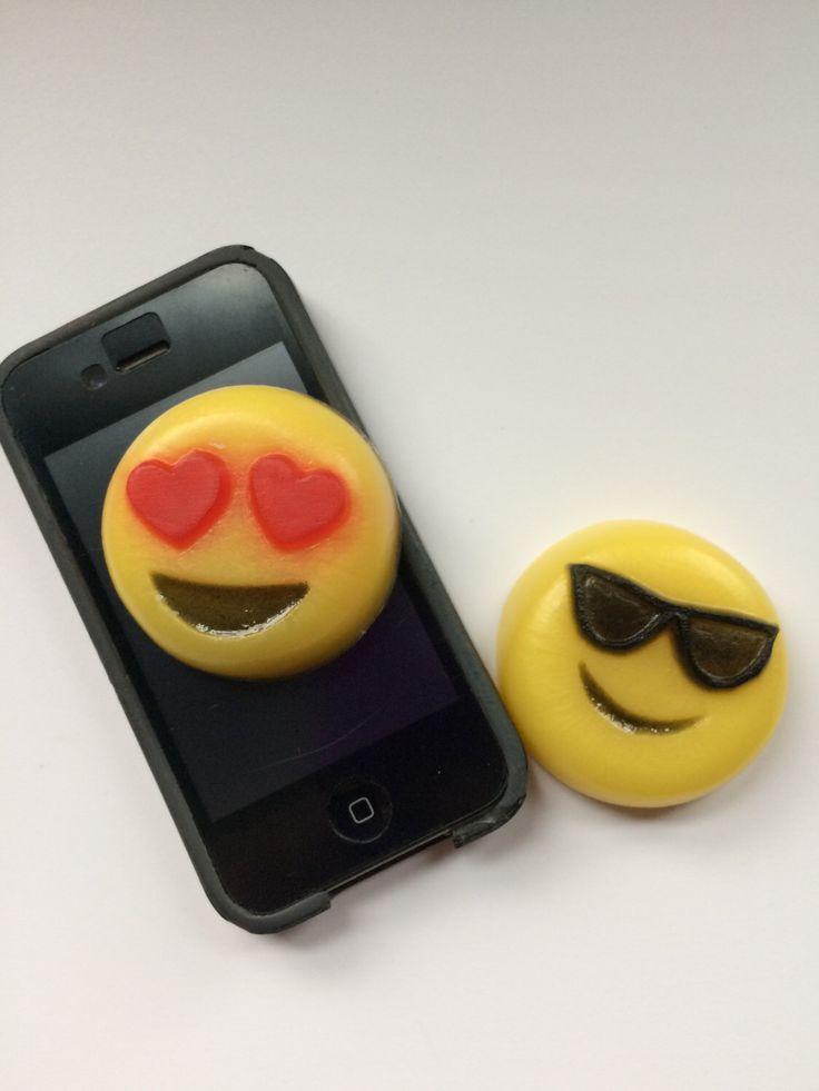 Emoji Soap, Heart Eyes Emoji, Smiling Face With Sunglasses Emoji by LadyEosProducts on Etsy https://www.etsy.com/listing/514391437/emoji-soap-heart-eyes-emoji-smiling-face