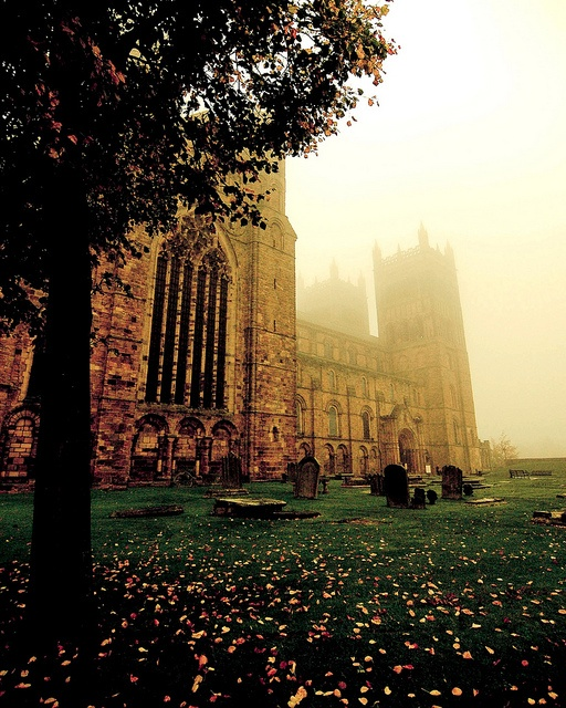 Autumn mist at Durham Cathedral, United Kingdom. Enduring loveliness.