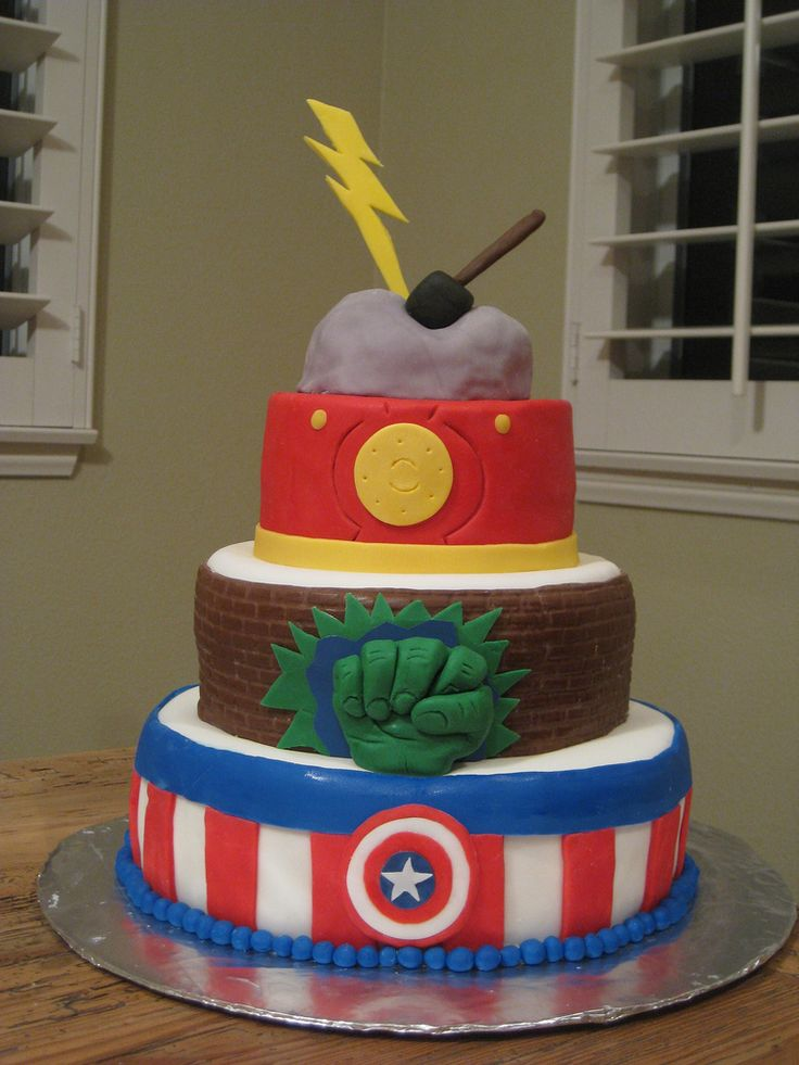 Avengers Cake for Jason's Birthday (2011)Avengers Cake, Happy Birthday, Birthday Parties, Avengers Birthday, Parties Ideas, Husband Birthday, Wedding Cake, Kids Cake, Birthday Cake