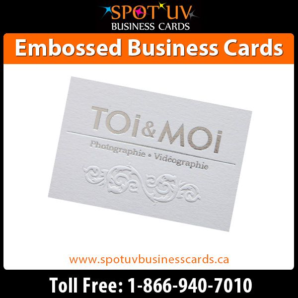 Creating the right first impression with our amazing embossed business cards.  Visit us: https://www.spotuvbusinesscards.ca/embossed-business-cards-32pt.html