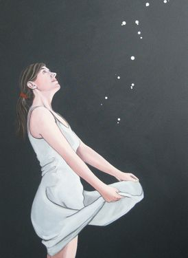 "Saatchi Art Artist Karoline Kroiß; Painting, ""The Star Talers / Sterntaler SOLD"" #art"