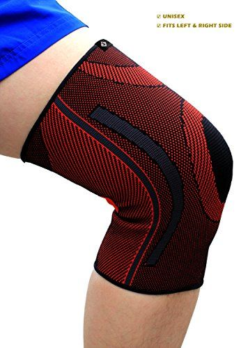 GATEWELL Light Series Elite Knitted Enwrap Knee Brace 1 Sleeve Compression Sleeves Support For Sports Arthritis Joint Pain Faster Recovery For All Types Of Outdoor Activities DARKRED  L *** Read more reviews of the product by visiting the link on the image.