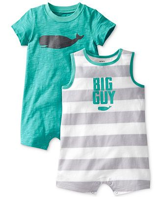 Carter's Baby Boys' 2-Pack Romper Set