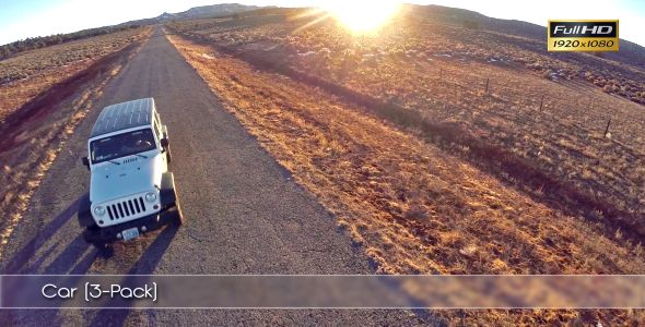 Car Aerials (3-Pack) ...  aerial, car, commercial, cool, desert, drone, freedom, fun, jeep, marketing, road, travel, usa, vacation, white