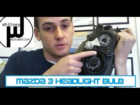 Mazda3 Headlight Bulb Replacement, how to prevent repeat failure. Getting the bulb in and out! - YouTube