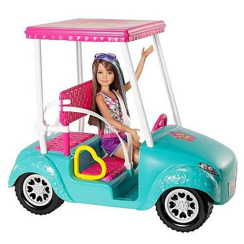 barbie and car