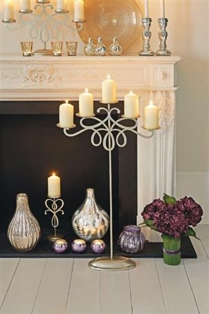 Floor Standing Candelabra This would be soooo adorable with mini stocking hung on for Christmas
