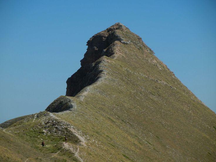 """Foto: Monte Sibilla (Monti Sibillini) - Escursioni guidate in montagna, corsi di escursionismo. Monti Sibillini, Gran Sasso-Monti della Laga (Marche_ Abruzzo).  """"Camminare in montagna è ginnastica per il corpo e per la mente."""""""