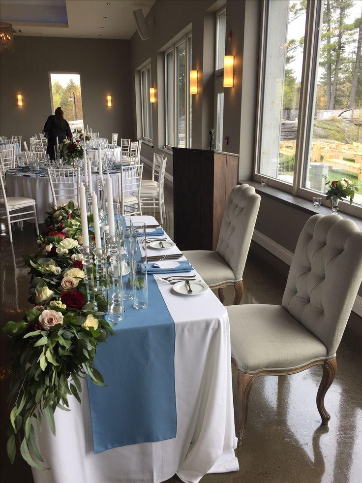 The head table   #lebelvedere #weddingday #weddingreception #florals