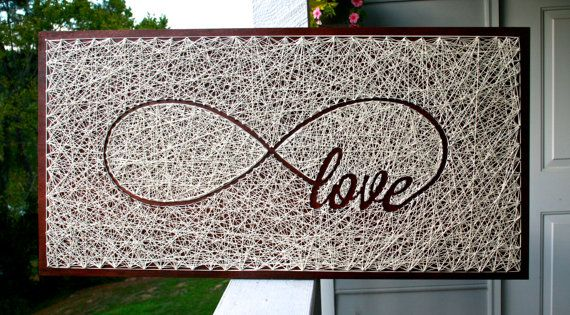 Infinity Love String Art by DistantRealms on Etsy