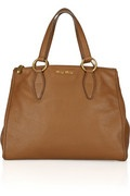 Miu Miu textured-leather tote, maybe nit exiting but everlasting classic