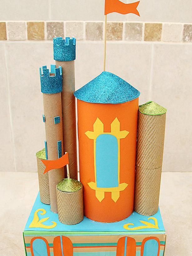 Turn Cardboard Boxes and Paper Towel Rolls into Toys: Cardboard tubes and a box…