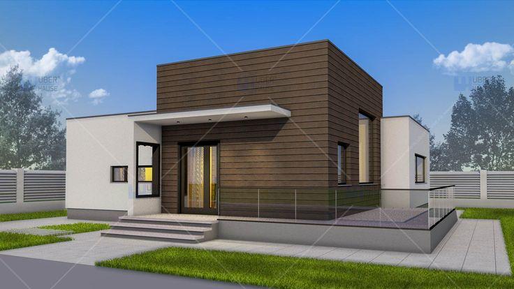Proiect casa parter (100 mp) - Nadira. Mai multe detalii gasiti aici: https://www.uberhause.ro/proiect-casa-parter-100-mp-nadira