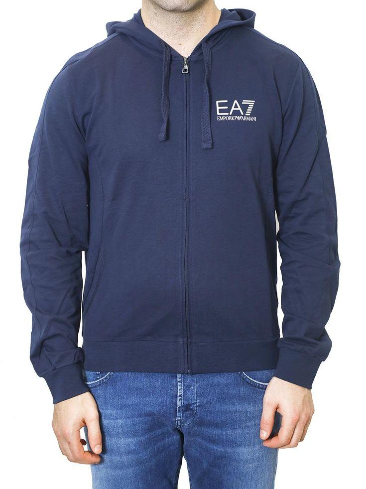 EA7 EMPORIO ARMANI EA7 - HOODED COTTON SWEATSHIRT. #ea7 #cloth #