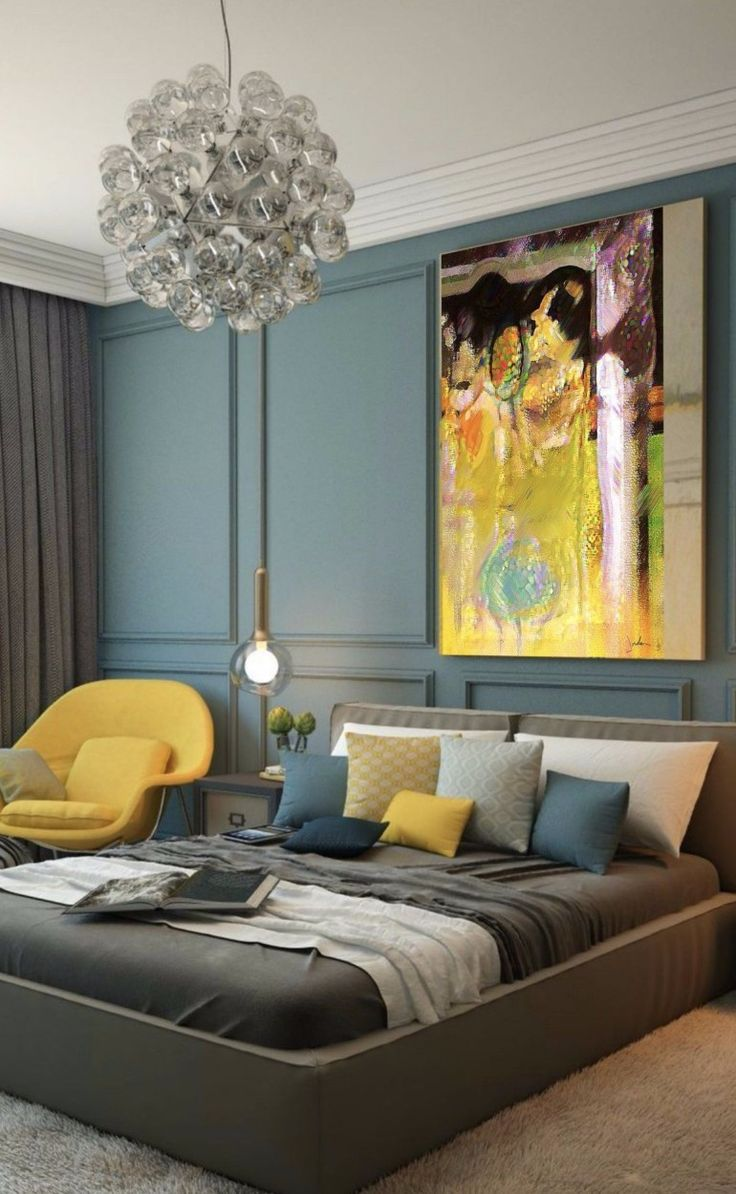 Farbideen für lebhaftes Schlafzimmer Design