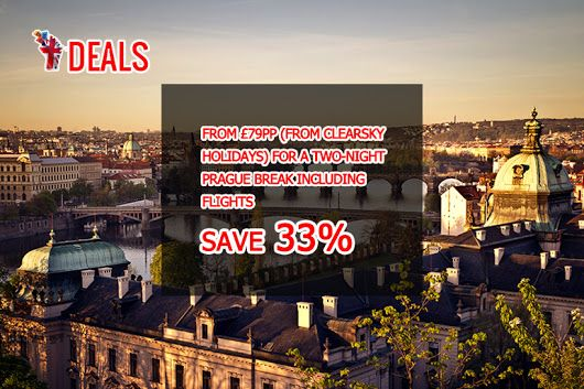 FROM £79PP (FROM CLEARSKY HOLIDAYS) FOR A TWO-NIGHT PRAGUE BREAK INCLUDING FLIGHTS, OR FROM £119PP FOR THREE NIGHTS - #SAVE UP TO 33% http://www.grabdeals.today/uk-en/deal_detail/12141