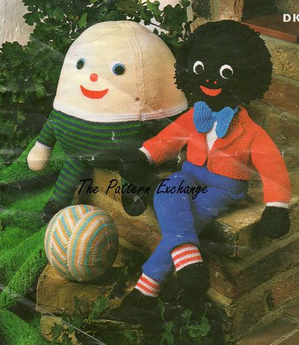Traditional Golly Wog and Humpty Dumpty Knitting Pattern PDF No. From TimelessOne Shop on Etsy, $3.30 AUD