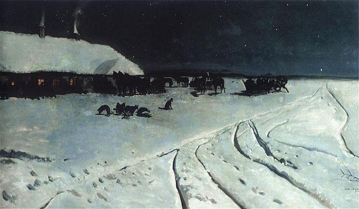 Jozef Chelmonski ~Noc na Ukrainie,1877.