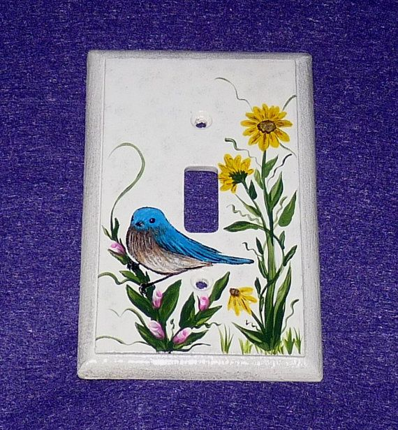 26 best Hand Painted Wood Light Switch Plate Covers images on ...